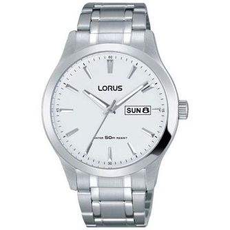 Lorus Men's White Dial Stainless Steel Bracelet Watch - Product number 5292905