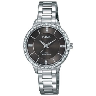 Pulsar Ladies' Black Dial Stainless Steel Bracelet Watch - Product number 5292948