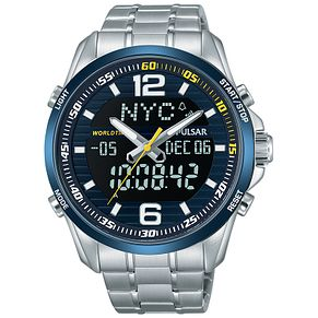 Pulsar Men's World Time Stainless Steel Bracelet Watch - Product number 5293006