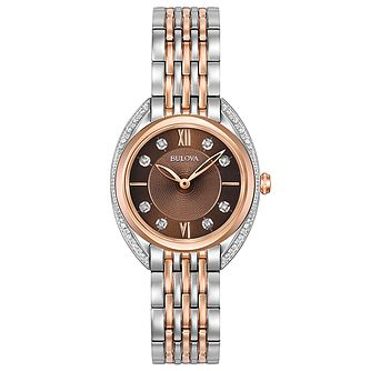 Bulova Diamonds Ladies' Two Colour Steel Bracelet Watch - Product number 5293146