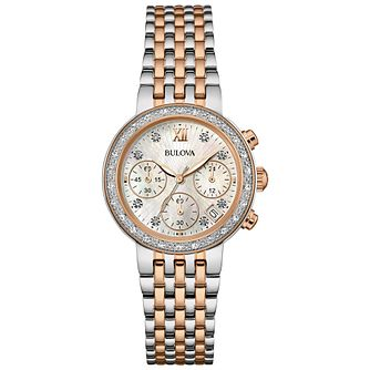 Bulova Diamonds Ladies' 2 Colour Steel Bracelet Watch - Product number 5293154