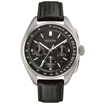 Bulova Lunar Pilot Chronograph Men's Black Strap Watch - Product number 5293197