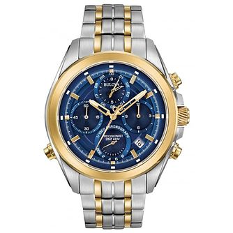 Bulova Precisionist Men's 2 Colour Steel Bracelet Watch - Product number 5293367