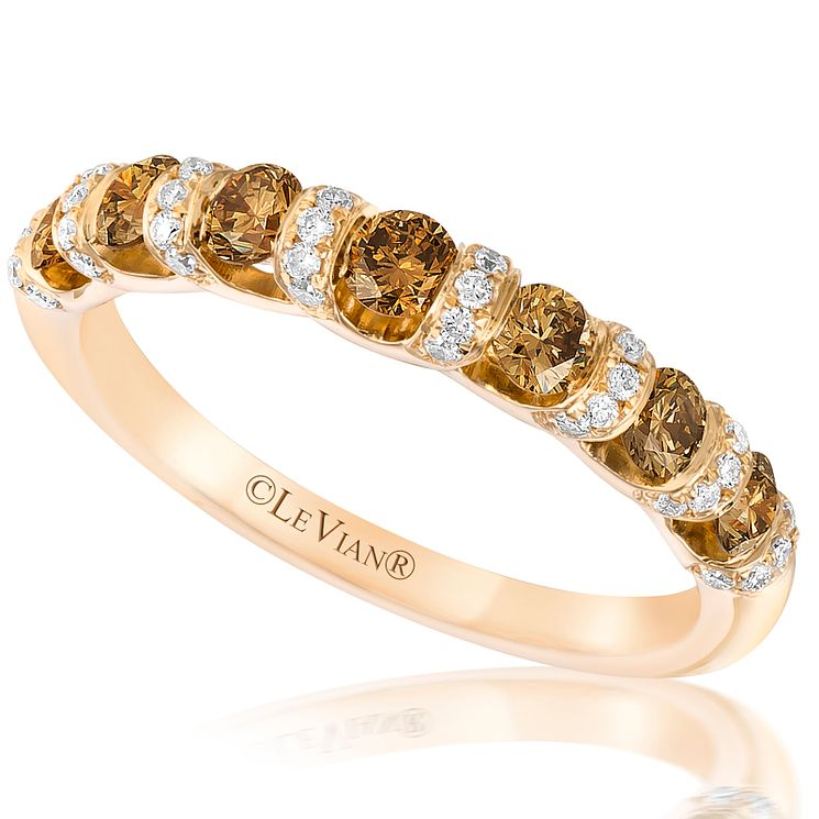 Le Vian 14ct Honey Gold Chocolate & Vanilla Diamond Ring - Product number 5294002