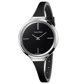 Calvin Klein Lively Ladies' Black Silicone Strap Watch - Product number 5296153