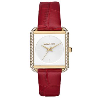 Michael Kors Ladies' Gold Tone Strap Watch - Product number 5296366
