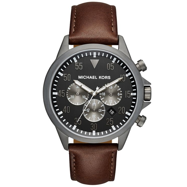 Michael Kors Gage Men's Ion Plated Strap Watch - Product number 5296625