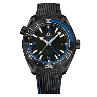 Omega Seamaster Men's Ceramic Black and Blue Strap Watch - Product number 5297745