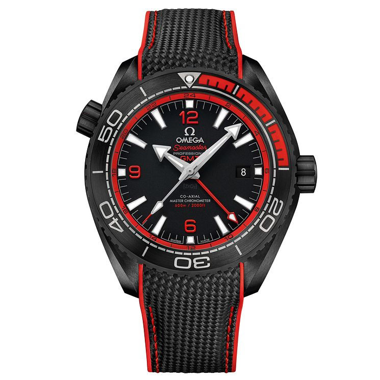 Omega Planet Ocean Deep Black 600m Men's Ceramic Strap Watch - Product number 5297753