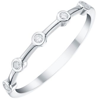 9ct White Gold Diamond Eternity Ring - Product number 5298628