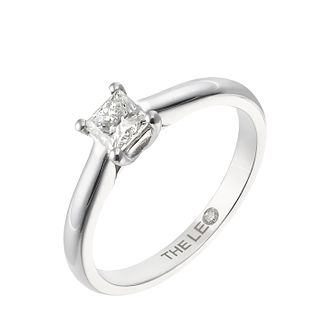 Leo Diamond platinum 0.50ct I-SI2 princess cut ring - Product number 5302005