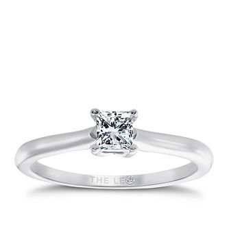Leo Diamond platinum 0.33ct I-SI2 princess cut ring - Product number 5302218