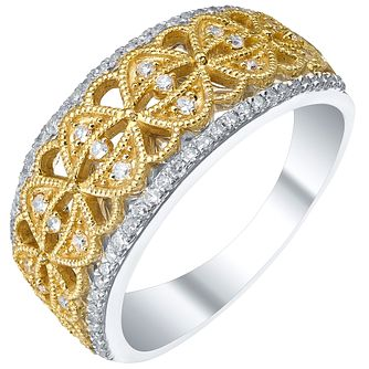 9ct Gold & White Gold 1/4 Carat Diamond Eternity Ring - Product number 5303915
