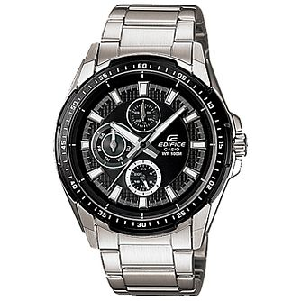 Casio Men's Black Dial Stainless Steel Bracelet Watch - Product number 5312965