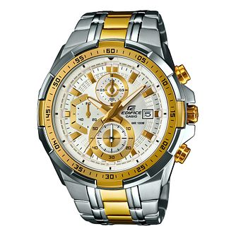 Casio Edifice Men's Two Tone Stainless Steel Bracelet Watch - Product number 5312973