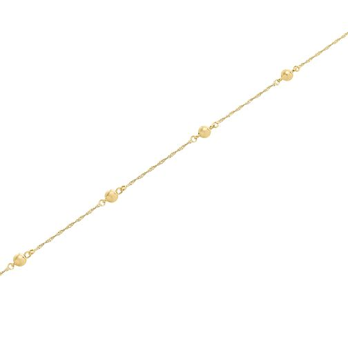 "9ct Gold 28"" Beaded Singapore Necklace - Product number 5320151"
