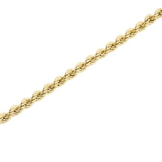 "9ct Gold 28"" Hollow Rope Chain - Product number 5320259"