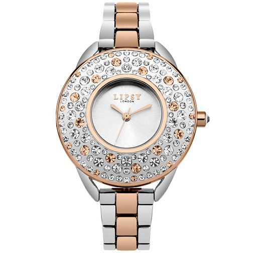 Lipsy Ladies' Two Tone Stone Set Bracelet Watch - Product number 5321468