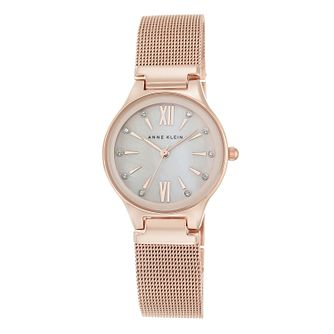 Anne Klein Ladies' Rose Gold Plated Bracelet Watch - Product number 5321719