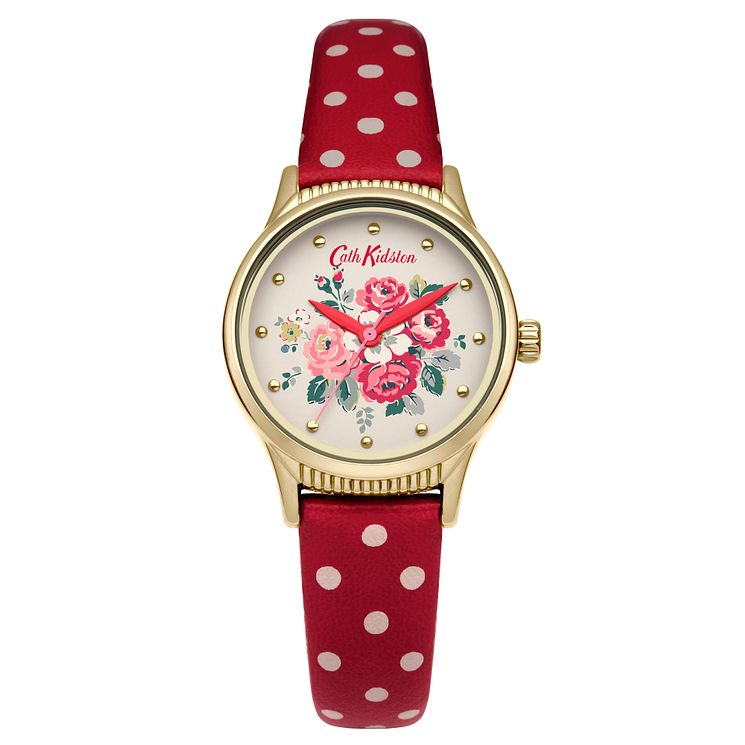 Cath Kidston Ladies' Red PU Strap Watch - Product number 5321980