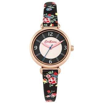 Cath Kidston Ladies' Black PU Strap Watch - Product number 5322073