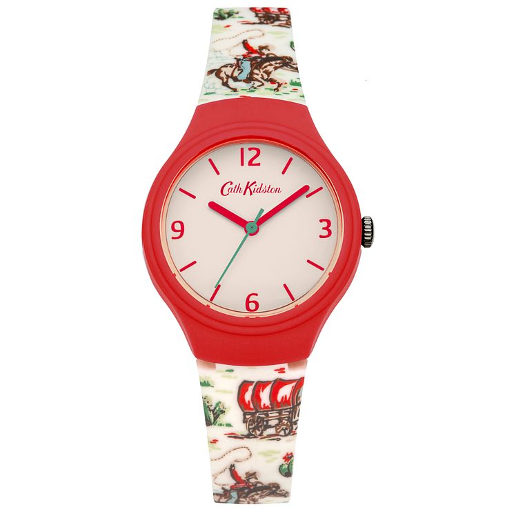 Cath Kidston Ladies' White Silicone Strap Watch - Product number 5322103
