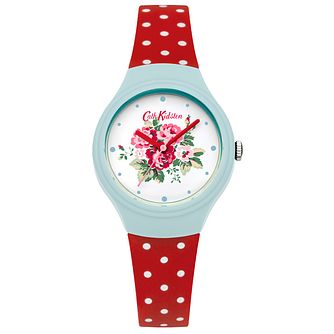 Cath Kidston Ladies' Red Silicone Strap Watch - Product number 5322146