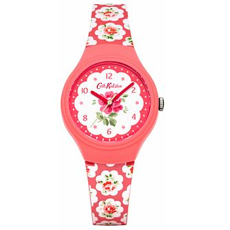 Cath Kidston Ladies' Pink Silicone Strap Watch - Product number 5322154