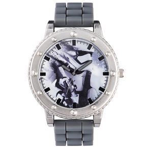 Star Wars Storm Trooper Grey Silicone Strap Watch - Product number 5322545