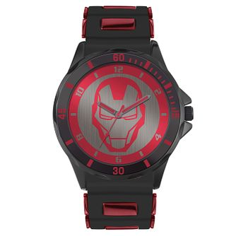 Disney Ironman Black & Red Silicone Strap Watch - Product number 5323134