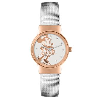 Disney Minnie Mouse Two Tone Mesh Strap Watch - Product number 5323169