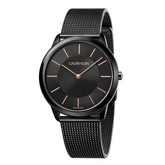 Calvin Klein Minimal Men's Black Mesh Bracelet Watch - Product number 5331579