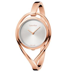 Calvin Klein Light Ladies' Rose Gold-Plated Bracelet Watch - Product number 5331730