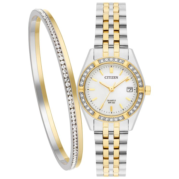 Citizen Ladies' Two Tone Bracelet Watch Set - Product number 5331803