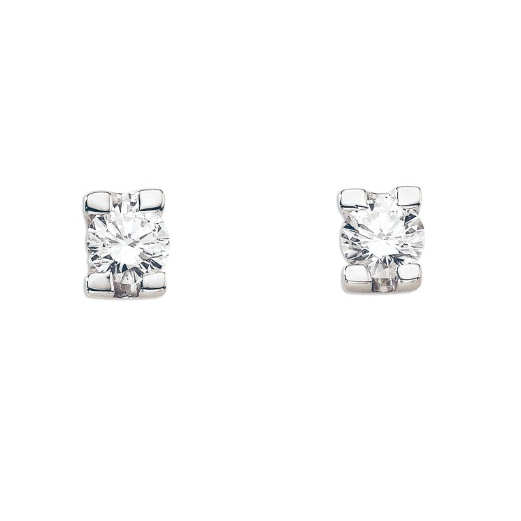 18ct Gold 1/4 Carat Forever Diamond Earrings - Product number 5365880