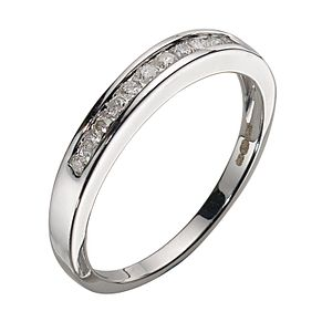9ct White Gold Diamond 11-stone Channel Set Eternity Ring - Product number 5372828
