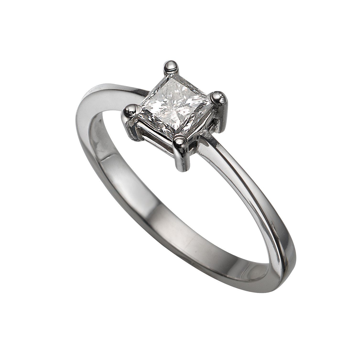 white marquise ring engagement scroll with solitaire design platinum diamond in gallery