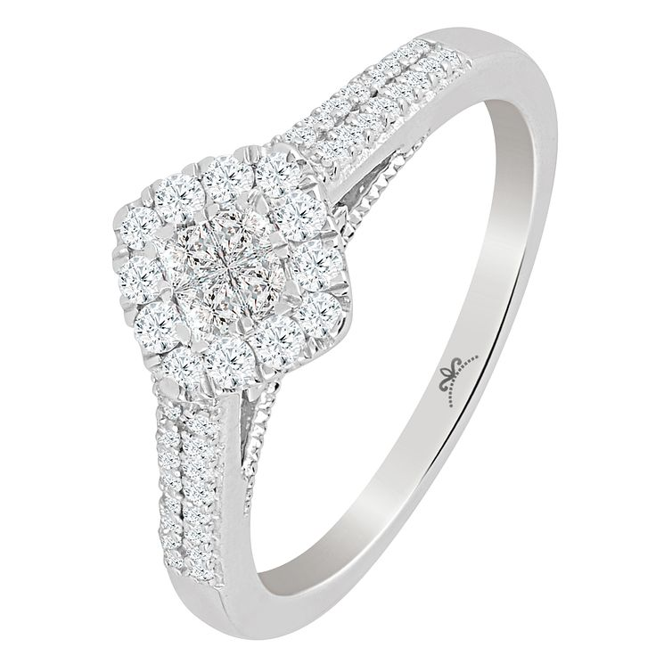 Princessa 9ct White Gold 2/5ct Diamond Ring - Product number 5415128