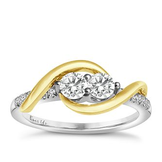 Ever Us 14ct White Gold & 1/2ct 2 Stone Ring - Product number 5420903