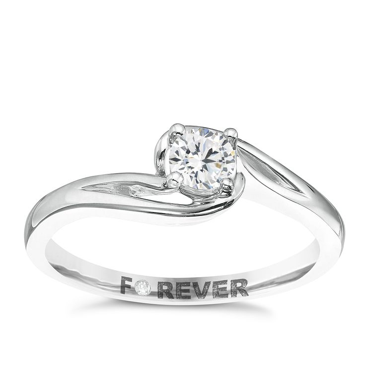 Palladium 1/4 Carat Forever Diamond Ring - Product number 5421209