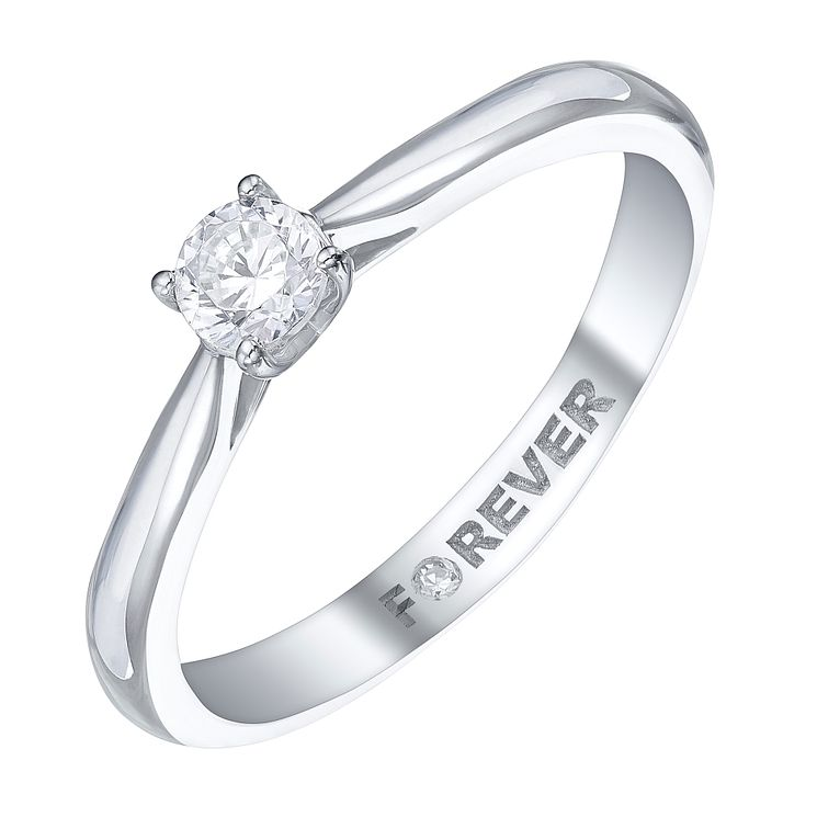 Platinum 1/4 Carat Forever Diamond Ring - Product number 5427118