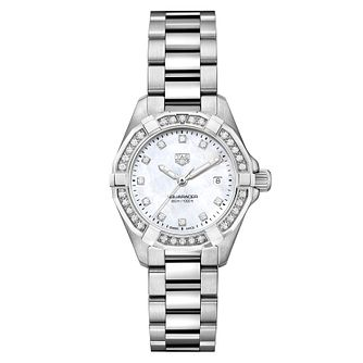 TAG Heuer Aquaracer Diamond Mother of Pearl Bracelet Watch - Product number 5446686