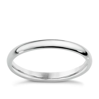 18ct white gold extra heavy 2mm court ring - Product number 5487145