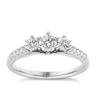 The Diamond Story 18ct White Gold 1/2ct Diamond Ring - Product number 5511267