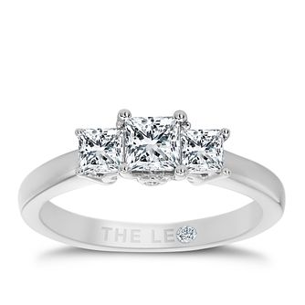 Leo Diamond 18ct White Gold 3 Stone 3/4ct II1 Diamond Ring - Product number 5513375