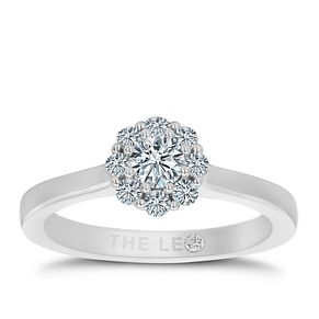 Leo Diamond 18ct White Gold 1/2ct II1 Diamond Cluster Ring - Product number 5513901
