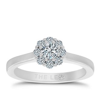 Leo Diamond 18ct White Gold 0.50ct II1 Diamond Cluster Ring - Product number 5513901