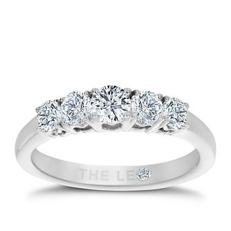 Leo Diamond 18ct White Gold 5 Stone 1/2ct II1 Eternity Ring - Product number 5514177