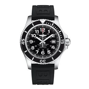 Breitling Superocean II 42 Men's Black Rubber Strap Watch - Product number 5516579
