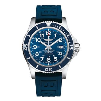 Breitling Superocean II 44 Men's Blue Rubber Strap Watch - Product number 5516587